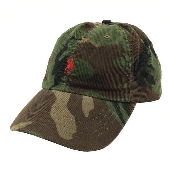 Polo Ralph Lauren Corduroy Camo Baseball Hat cb7794f7637
